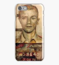 Bowie mugshot face front iPhone Case/Skin
