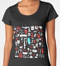 Blood, Blue and Tears Women's Premium T-Shirt