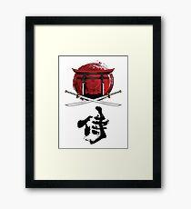 Samurai Katana Tori gate Kanji Framed Print