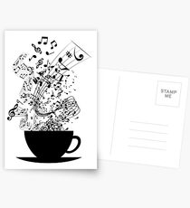 Cup of Music Postcards