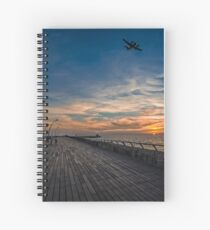 a cinematic moment at the Tel Aviv port Spiral Notebook