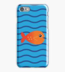 Cartoon fish illustration iPhone Case/Skin