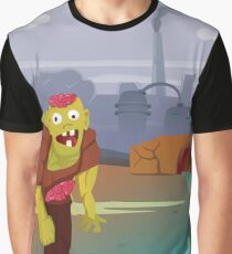 Cartoon running zombie.  Graphic T-Shirt