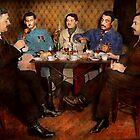 Steampunk - Bionic three having tea 1917 by Michael Savad