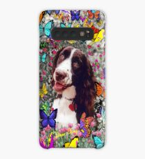 Lady in Butterflies - Brittany Spaniel Case/Skin for Samsung Galaxy