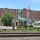 The Prince Arthur Hotel and Tourist Pagoda - Thunder Bay, Ontario by Rochelle Smith