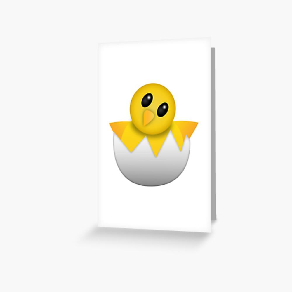 Brütendes Babyküken Emoji Grußkarte