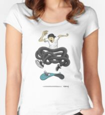 Gnarly Skater Women's Fitted Scoop T-Shirt