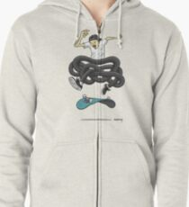 Gnarly Skater Zipped Hoodie