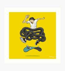 Gnarly Skater Art Print