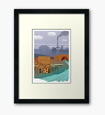 Zombies and toxic waste - Illustration  Framed Print