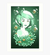 Obstacles | Mermaid | Water | Fantasy Girl Art Print