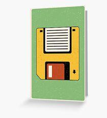 Tarjeta de felicitación Disquete   Tech   Arte retro