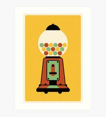 Gumball Machine | Toy | Retro Art Art Print