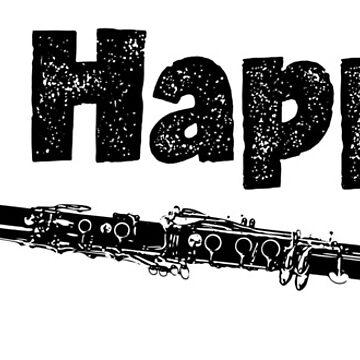 Spit Happens - Clarinet (Black Lettering) by RedLabelShirts