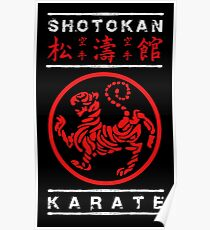 Shotokan Karate (white text) Poster