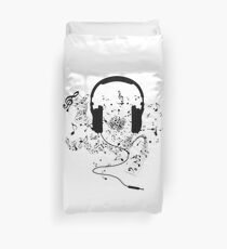 Kopfhörer und Musiknoten Bettbezug