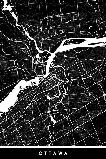 Ottawa | Kanada | Stadtplan | Minimalismus von FabledCreative