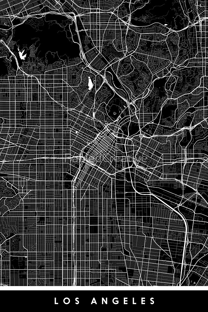 Los Angeles   United States   City Map   Minimalism by FabledCreative