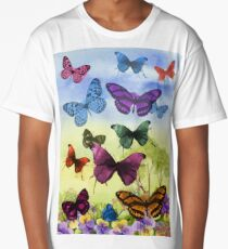 Colorful butterflies Long T-Shirt