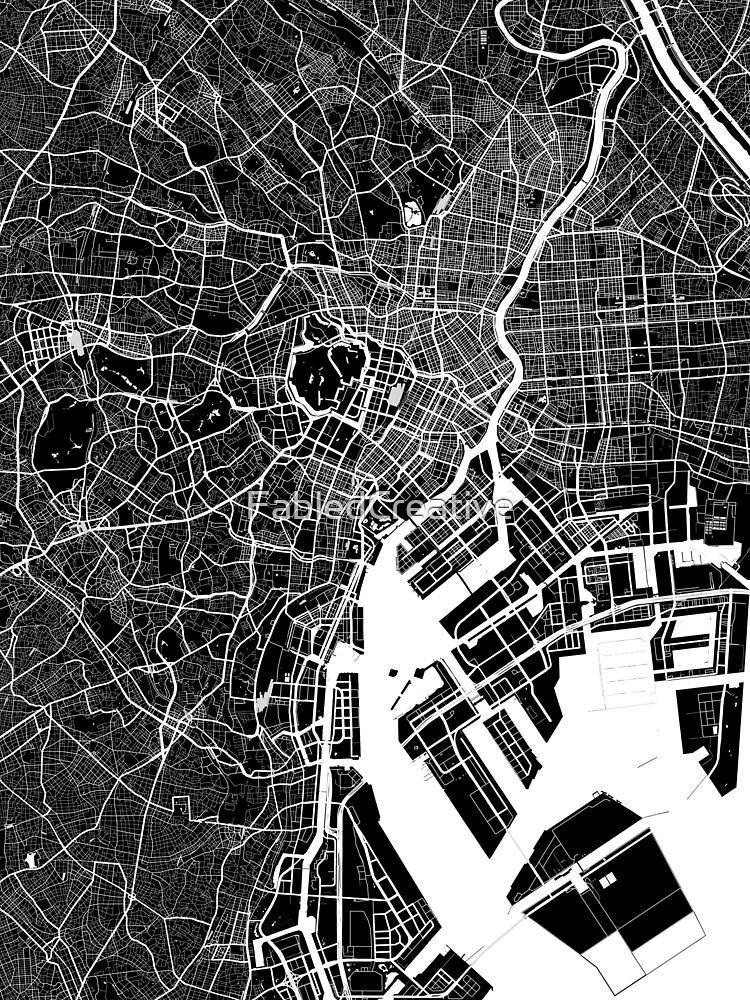 Tokio - Japan | Stadtplan | Minimalismus von FabledCreative
