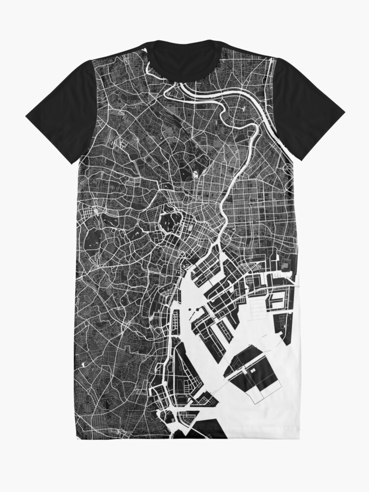 Alternative Ansicht von Tokio - Japan | Stadtplan | Minimalismus T-Shirt Kleid