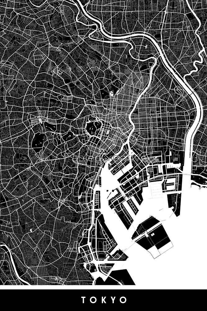 Tokyo - Japan | City Map | Minimalism by FabledCreative