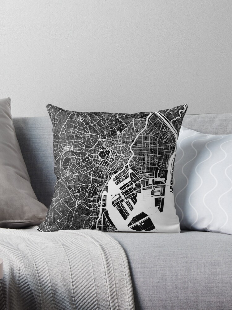 Tokio - Japan   Stadtplan   Minimalismus von FabledCreative