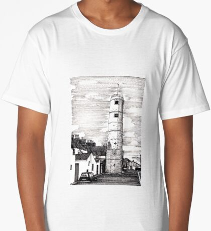 163 - BATH TERRACE LIGHTHOUSE, BLYTH (INK 1988) Long T-Shirt