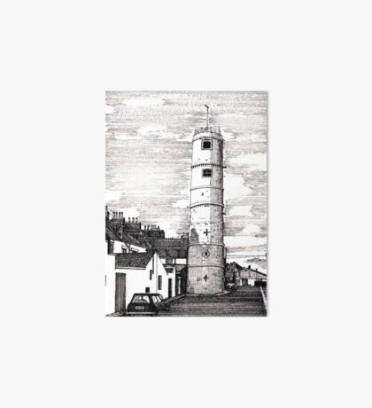 163 - BATH TERRACE LIGHTHOUSE, BLYTH (INK 1988) Art Board