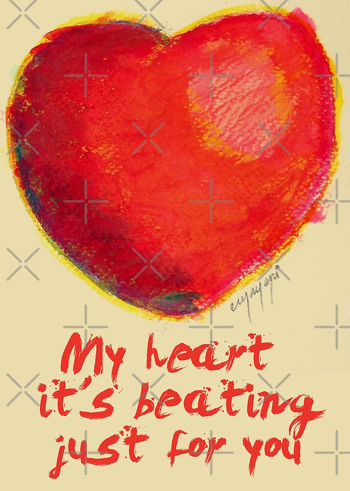 Heart beating by monica palermo