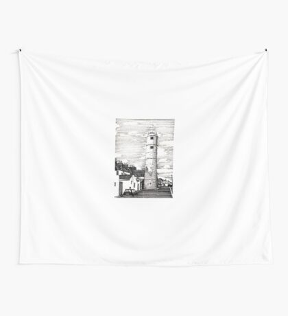163 - BATH TERRACE LIGHTHOUSE, BLYTH (INK 1988) Wall Tapestry