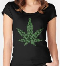 Marijuana Leaf Women's Fitted Scoop T-Shirt