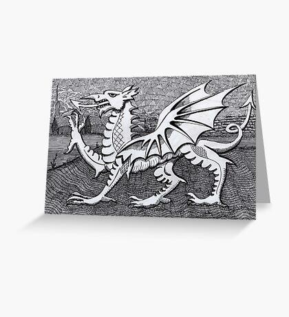 213 - WELSH DRAGON - DAVE EDWARDS - INK - 2007 Greeting Card