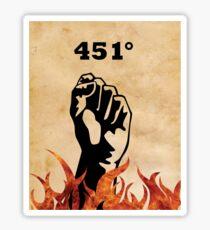 Fahrenheit 451 - Ray Bradbury Sticker