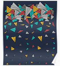 Flying paper planes  Poster