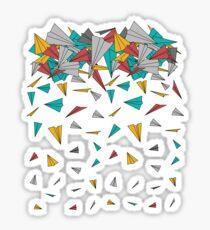 Flying paper planes  Sticker