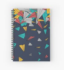 Flying paper planes  Spiral Notebook