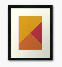 Mixed Geometry Yellow Orange Red Framed Print