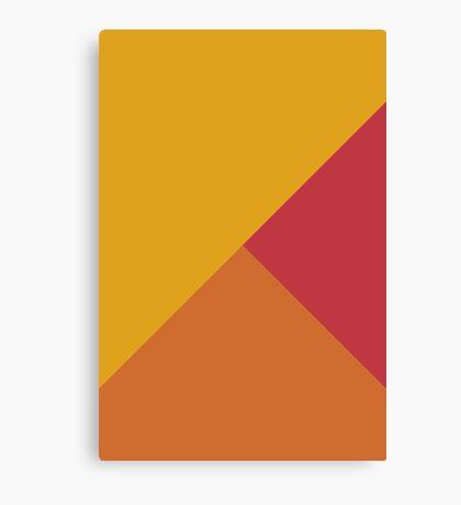 Geometría mixta amarillo anaranjado rojo Lienzo