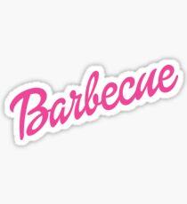 Barbie Barbecue Parody Shirt Sticker