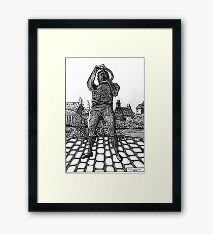 259 - WILLIE CARR - 02 - DAVE EDWARDS - INK - 2015 Framed Print