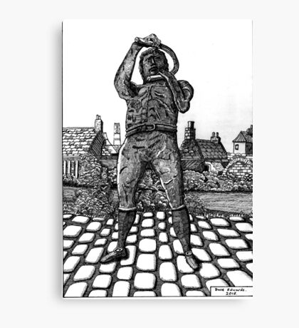 259 - WILLIE CARR - 02 - DAVE EDWARDS - INK - 2015 Canvas Print