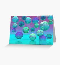 Ocean Dreams - Aqua and Violet Ocean Fantasy Greeting Card