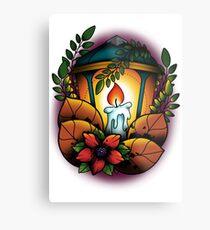 Neotraditional candle lantern Metal Print