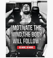 Motivate The Mind - The Body Will Follow Poster