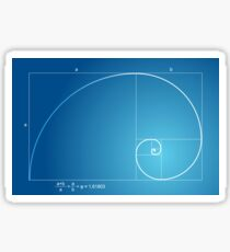 Fibonacci - Golden spiral  Sticker