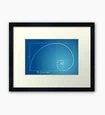 Fibonacci - Golden spiral  Framed Print