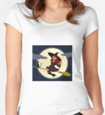 Witch at night Women's Fitted Scoop T-Shirt