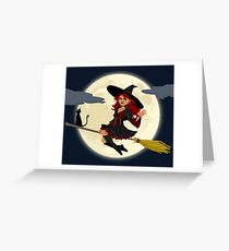 Witch at night Greeting Card